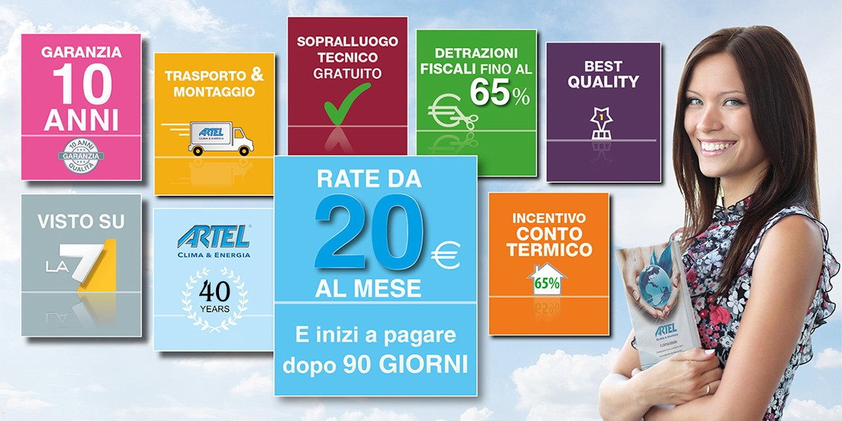 Stufe a pellet in offerta Artel